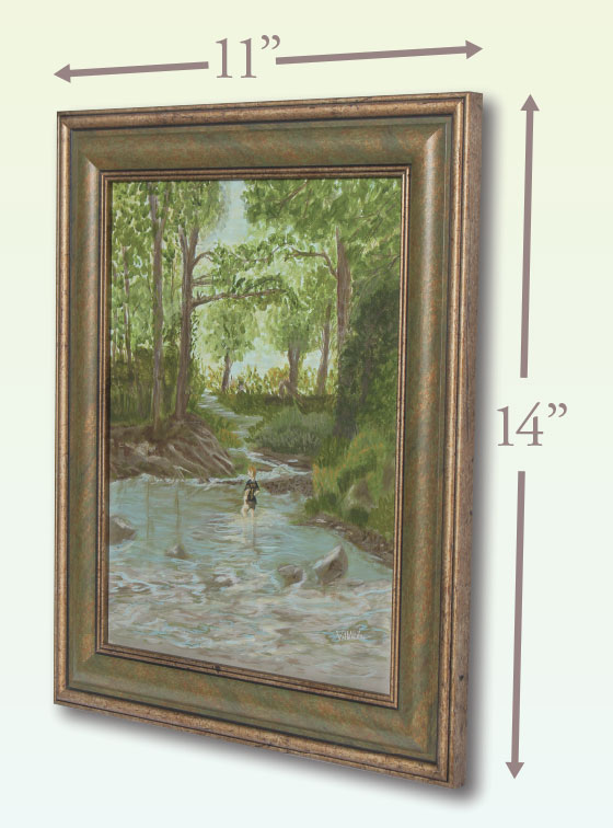 Wading in Chester Creek - Val Walton Art
