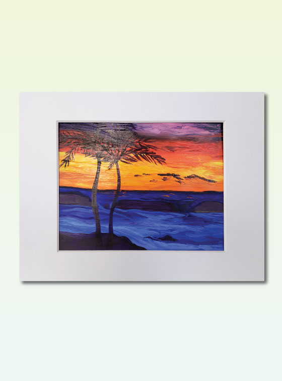 Sunset Series Painting 300 - Val Walton Art - Delaware Artist