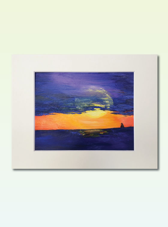 Sunset Series Painting 302 - Val Walton Art - Delaware Artist