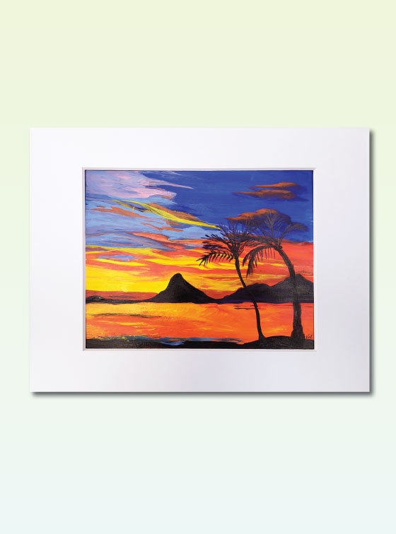 Sunset Series Painting 305 - Val Walton Art - Delaware Artist