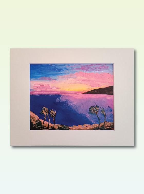Sunset Series Painting 308 - Val Walton Art - Delaware Artist