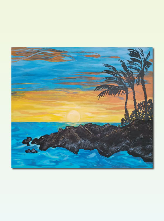 Hawaiian Series Painting 113 - Val Walton Art