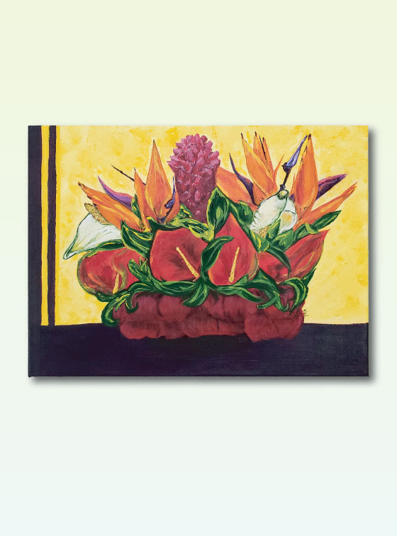 Hawaiian Bouquet - Val Walton Art