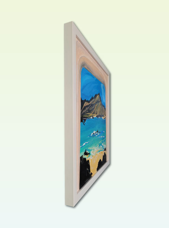 Window View with Mountain 208 - Val Walton Art