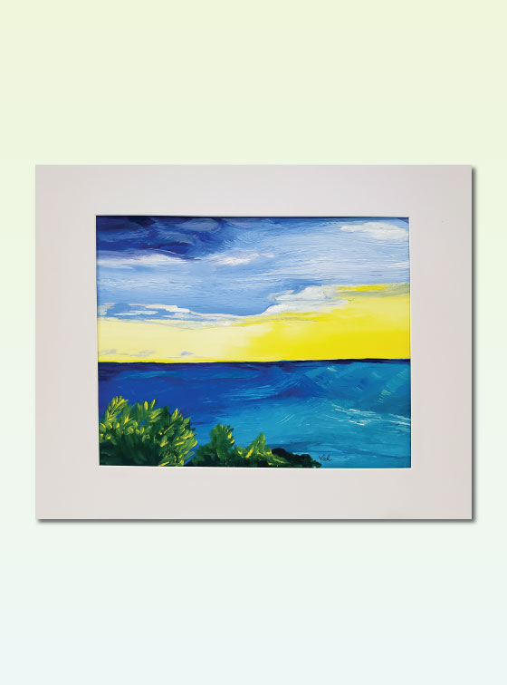 Sunset Series Painting 310 - Val Walton Art - Delaware Artist