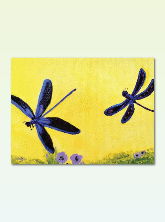 Dragonfly - Val Walton Art