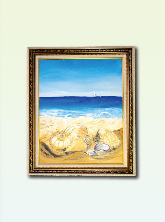 Seashell Collecting - Val Walton Art - Delaware Artist